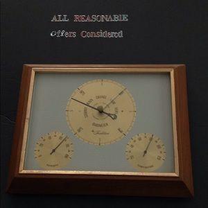 Barometer/ Weather Station Vintage